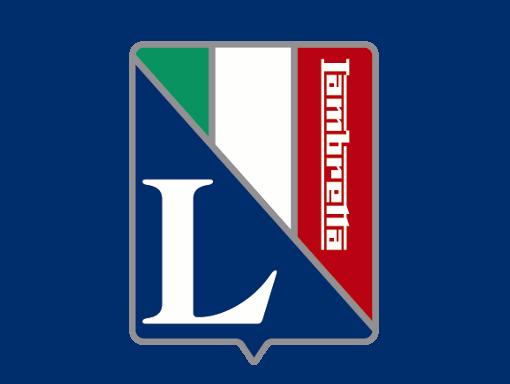 Lambretta logo Italian flag L