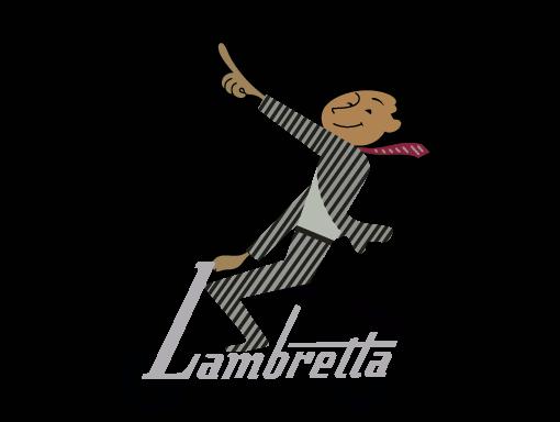 Man on Lambretta drawing