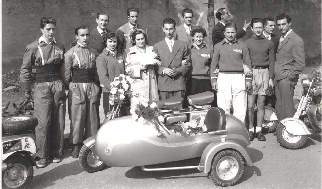 1949 Wedding ride in Lambretta in Milano04