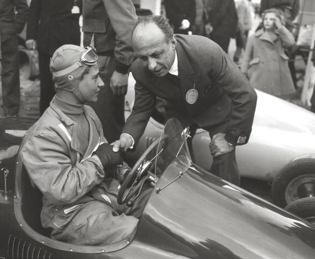 1950_First race of go-karts fitted with 125CC Lambretta engines in Monza-0000 14 year-old Guglielmo Paglini won