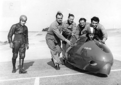1951 Poggi with the Sirulo, during record test in Monthléry