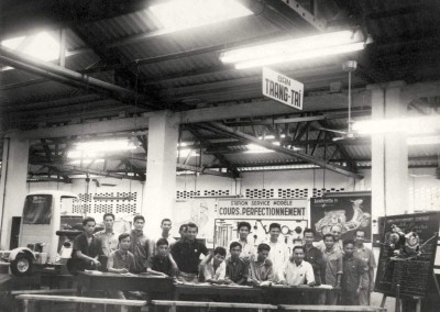 1955_Workers from Lambretta factory in Indonesia