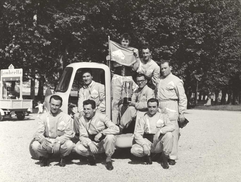 1958_Lambretta meeting in Mantova in Lombardy