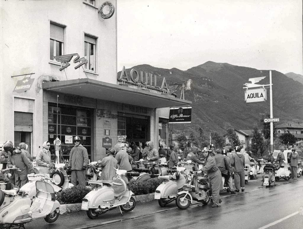 1960 National Narcissus Lambretta motoclub meeting in Lombardy2