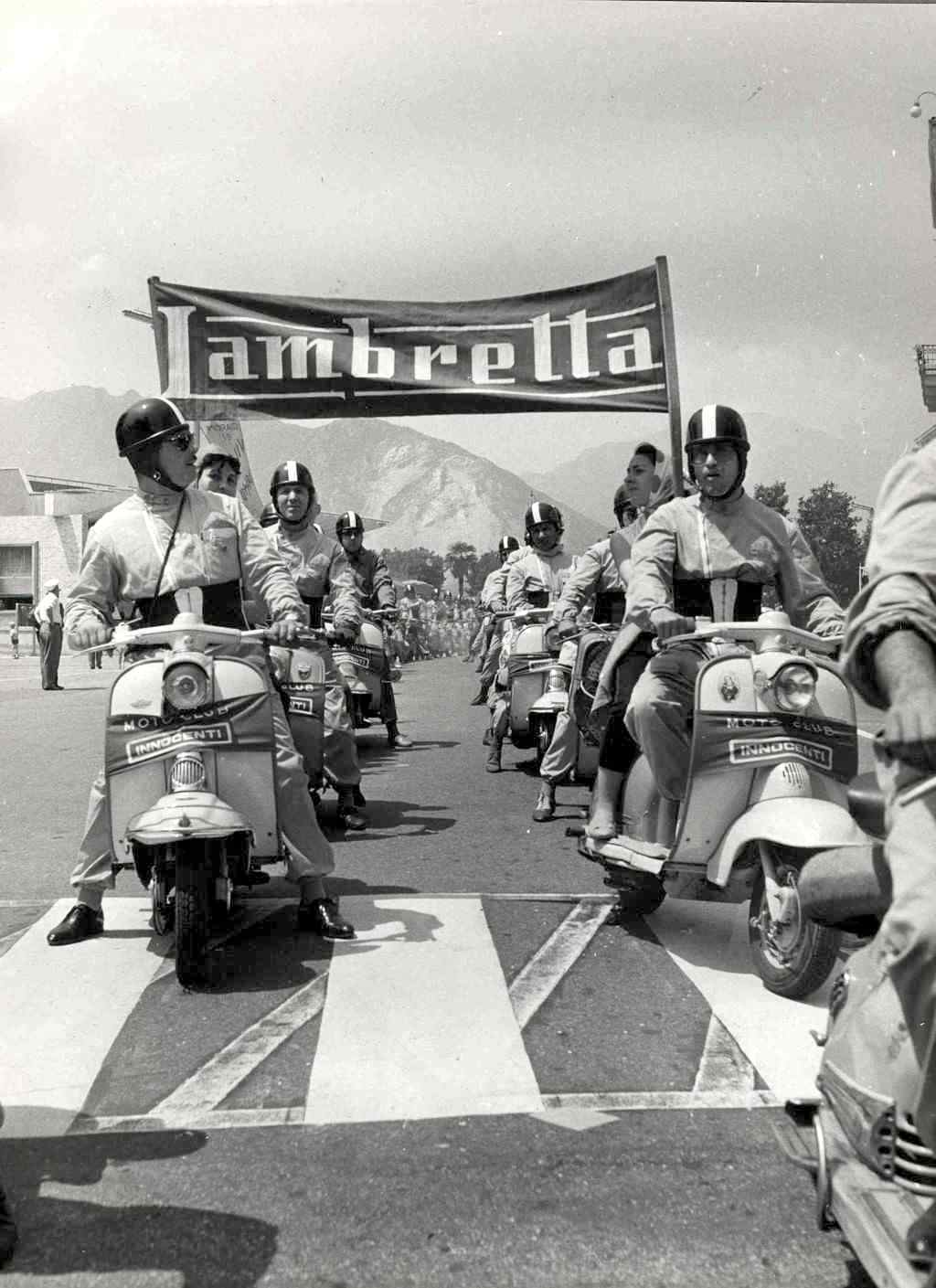 1960 National Narcissus Lambretta motoclub meeting in Lombardy3