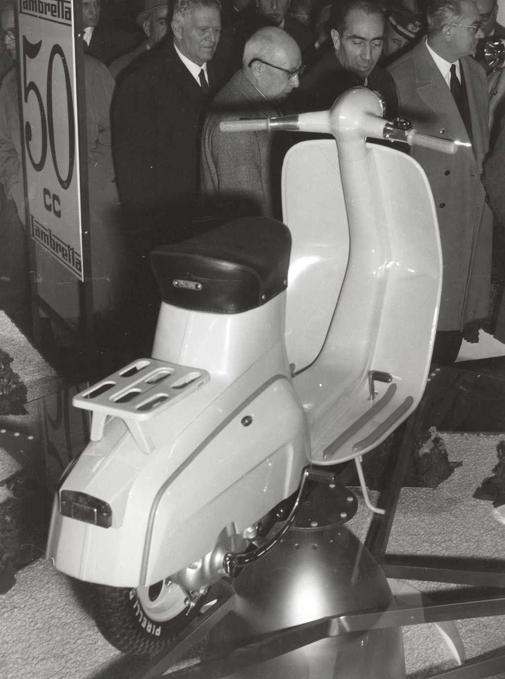 1961 Presentation of the new Lambretta 50 in the Milan exhibiton