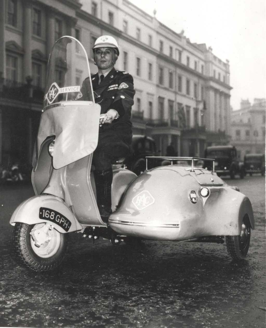 Policeman with sidecar