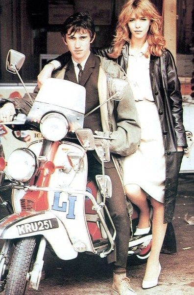 Phil Daniels mod Jimmy Cooper advertising denim from 1965 in a still from the film Quadrophenia United Kingdom 1979 by Levis 2