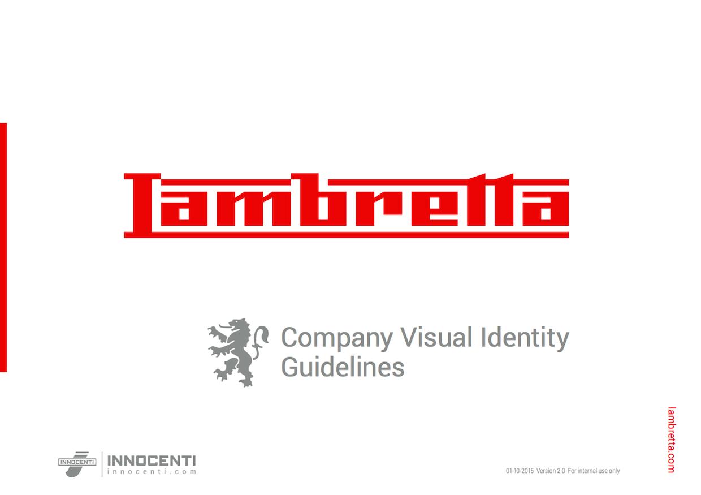 Lambretta company visual identity guidelines