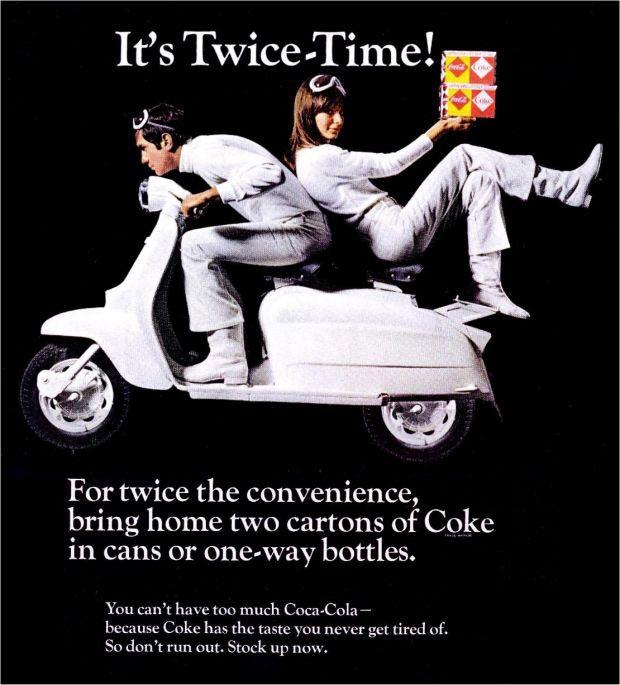 1960 Coca Cola campaign with Lambretta