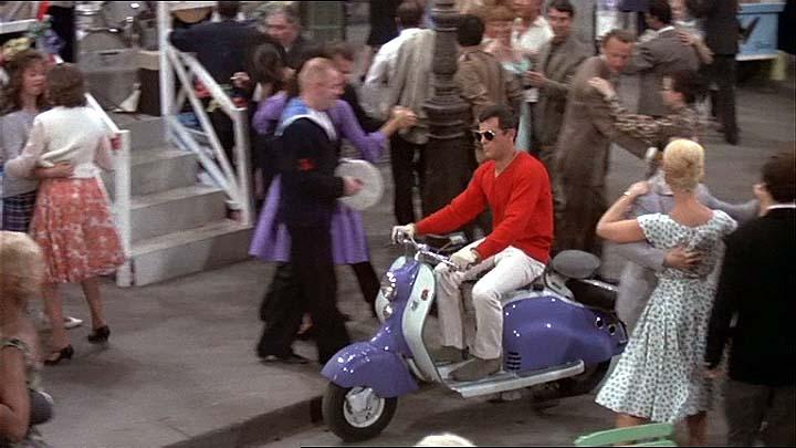 1956 Lambretta LD in Paris - When It Sizzles, Movie, 1964
