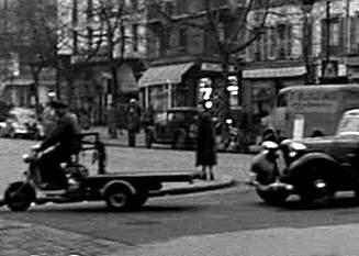 1952 Lambretta 125 FD in Du rififi chez les hommes, Movie, 1955 three wheeler