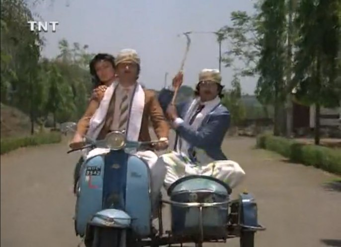 1962 Lambretta API in Coolie, Movie, 1983 built in India