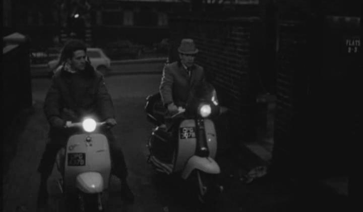 1964 Lambretta J 100 Cento (left) in Georgy Girl, Movie, 1966