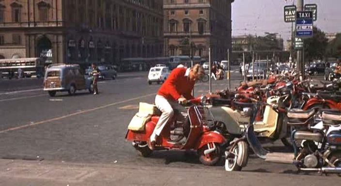 Lambretta 125 D in Rome Adventure, Movie, 1962