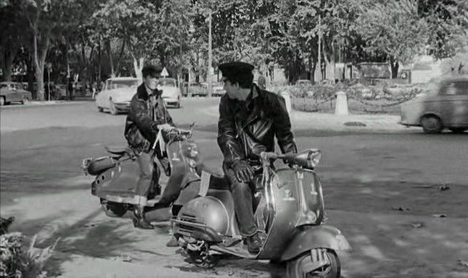 Lambretta LC in Les petits matins, Movie, 1962