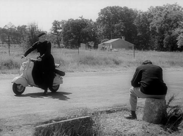 Lambretta LD in Le chômeur de Clochemerle, Movie, 1957 built in France